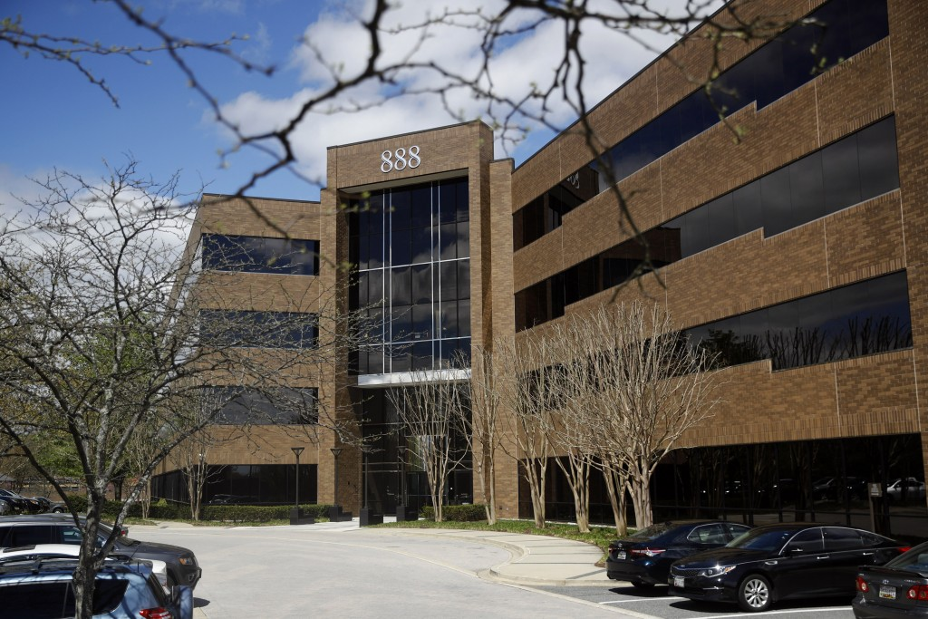 An office building that housed the Capital Gazette newspaper's offices up until a 2018 shooting that left five employees dead is seen Monday, April 15...
