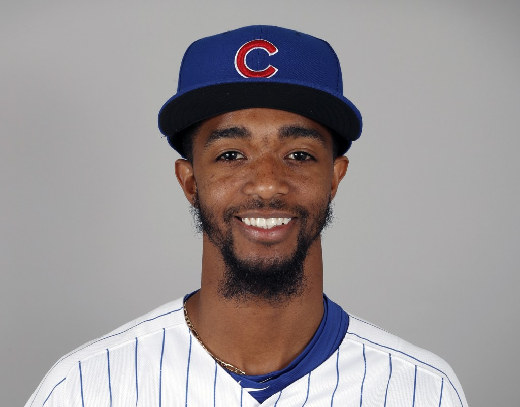 FILE - This is a 2018, file photo showing Carl Edwards Jr. of the Chicago Cubs baseball team. Major League Baseball is investigating a racist message