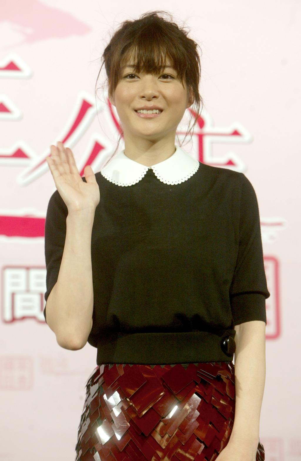 因在日劇「交響情人夢」飾演「野田妹」而打開知名度的日本女星上野樹里,1日在台北宣傳即將在台播映的NHK年度大戲「江~戰國三公主」。中央社記