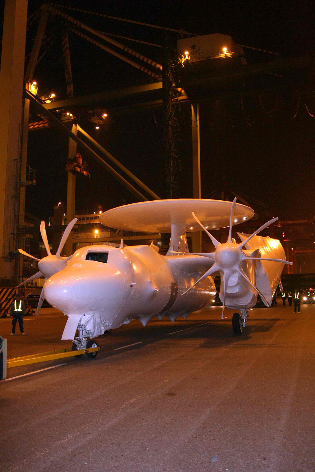 U.S.-upgraded E-2K early warning aircraft arrived in Taiwan on December 19, 2011.