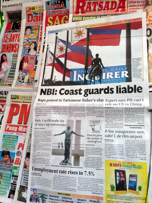 「菲律賓每日詢問者報」12日引述消息人士披露,菲律賓國家調查局的調查報告建議,應控告射擊廣大興28號漁船遭射擊事件的菲方執法人員。中央社記...
