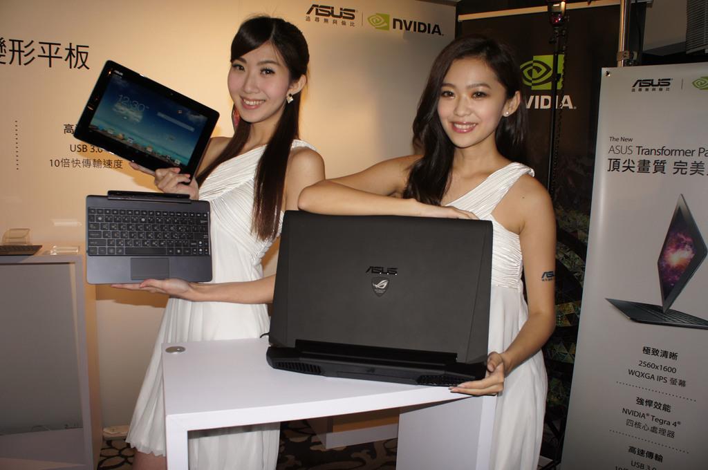華碩8日宣布推出10.1吋變形平板Transformer Pad TF701T,以及ROG電競筆電G750系列,均搭載NVIDIA繪圖處理...