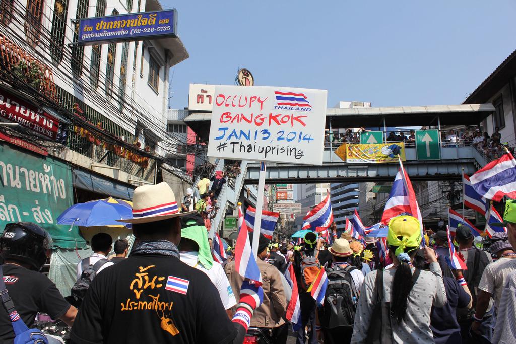 泰國抗議團體13日將在曼谷20個地段集會遊行,當天起要「關閉」曼谷,5日先行遊行熱身,邀請更多人加入。中央社記者林憬屏曼谷傳真      ...