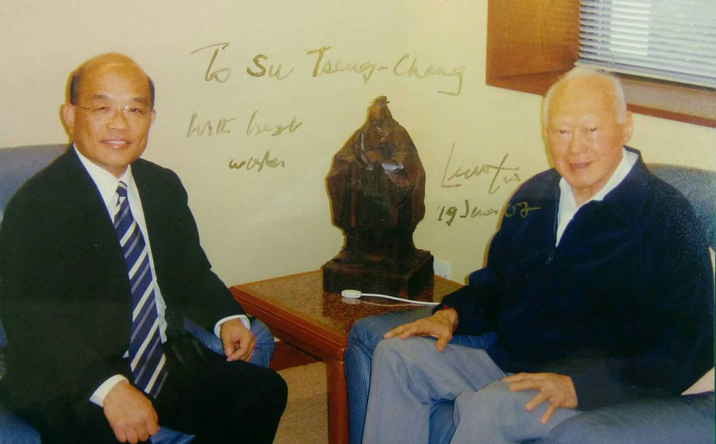 Ex-Premier Su Tseng-chang to attend Lee Kuan Yew funeral