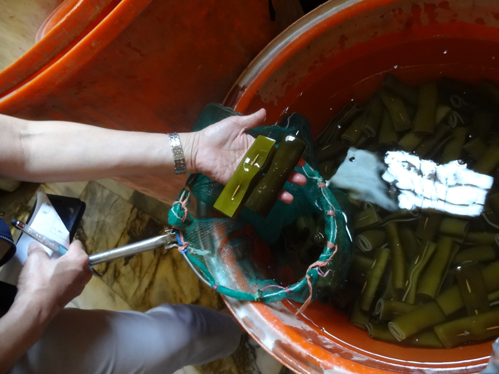Kaohsiung authorities seize illegally processed seaweed