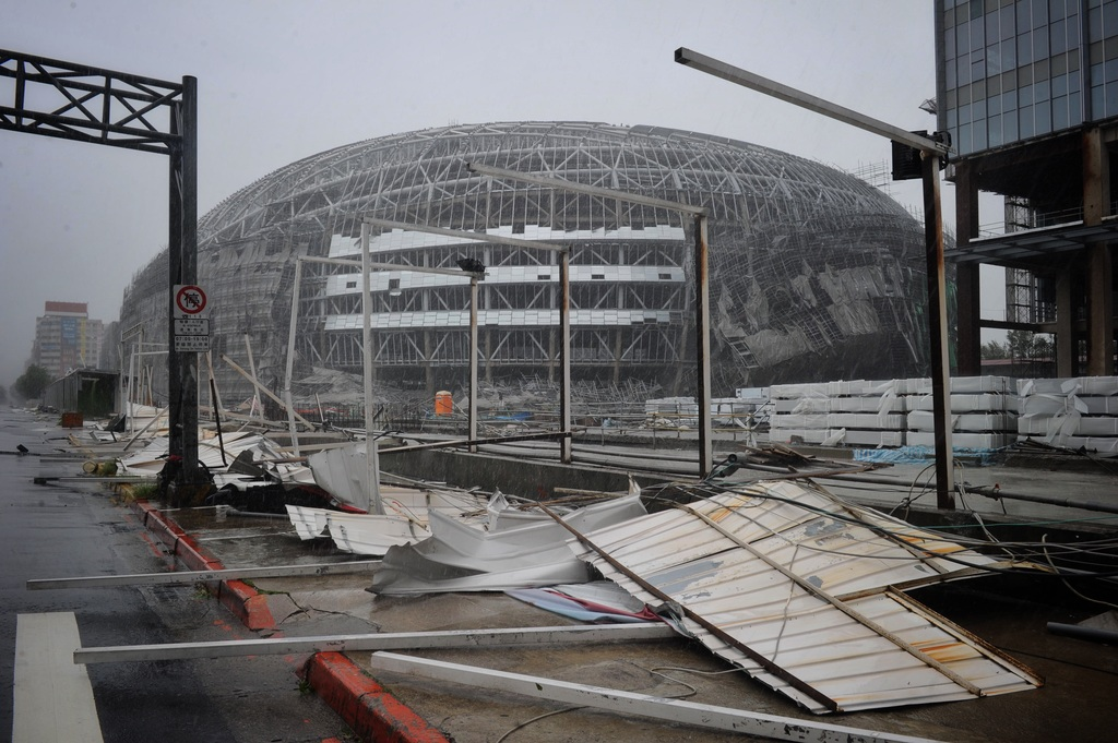 Taipei Dome to face fine over typhoon