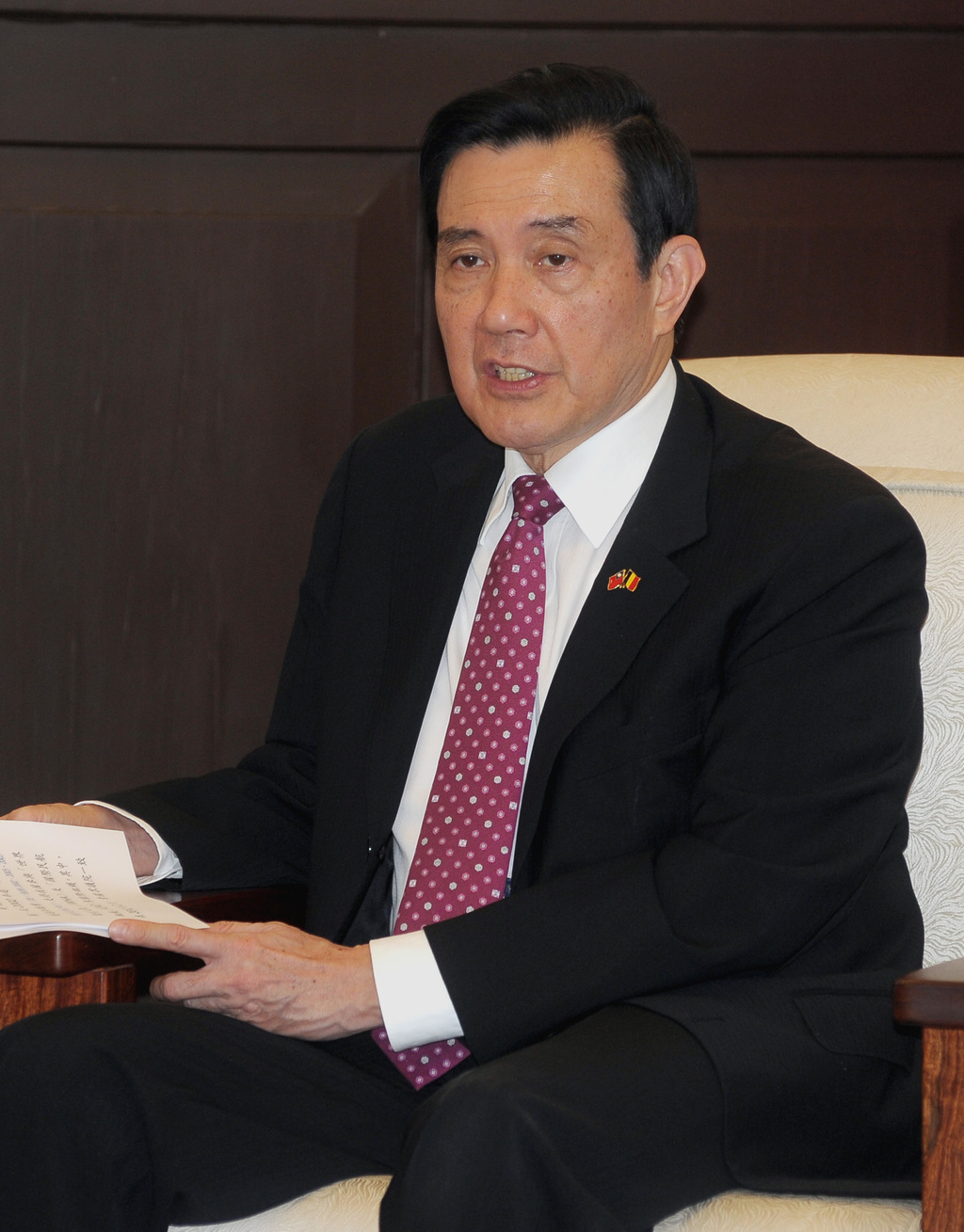 President Ma to meet China's Xi in Singapore Saturday
