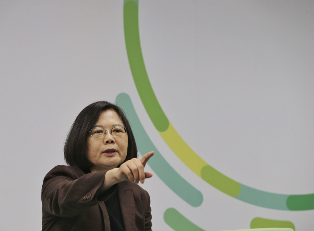 Tsai Ing-wen spoke of her education policy on Friday