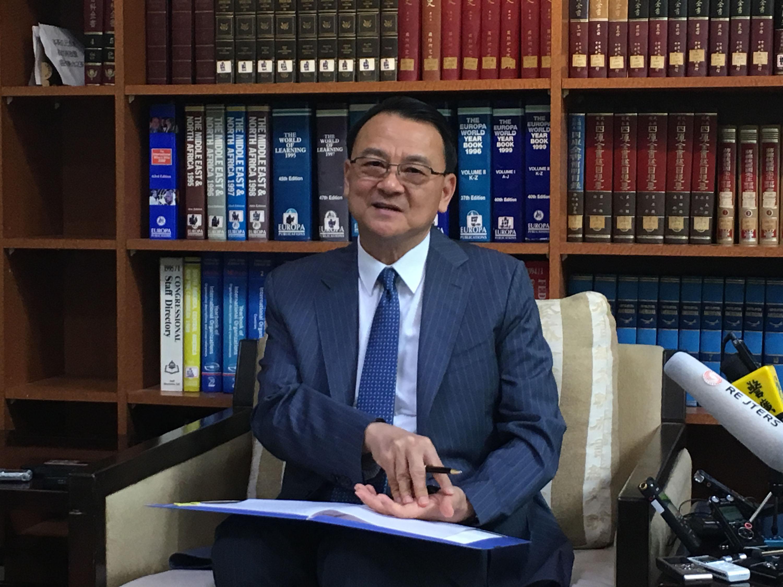 外交部拉丁美洲及加勒比海司司長周麟。 中央社記者侯姿瑩攝 106年8月17日