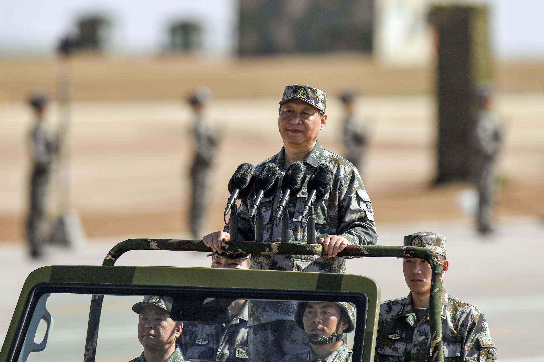 解放軍示意圖。解放軍建軍90周年校閱軍隊。 (中新社提供) 中央社。