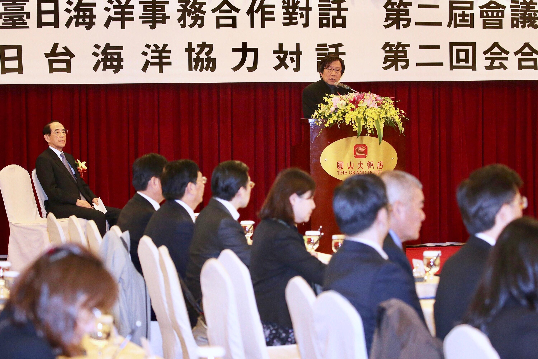 第二屆「台日海洋事務合作對話會議」開幕式19日在台 北舉行,台日雙方討論漁業合作、漁業資源保育、海上 急難救助及海洋科學研究合作等議題。台