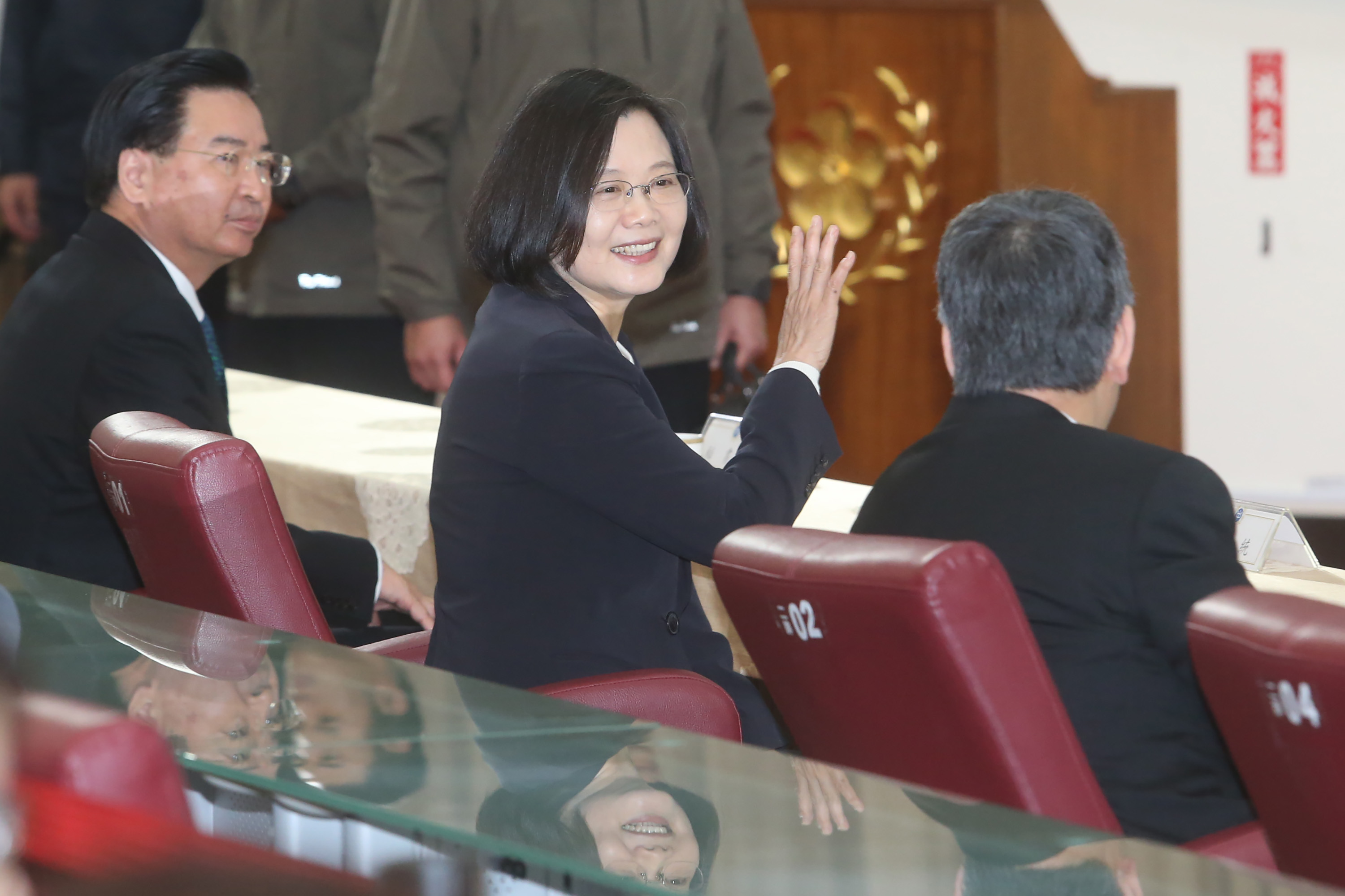Taiwan president says island's defense budget to grow, given China pressures