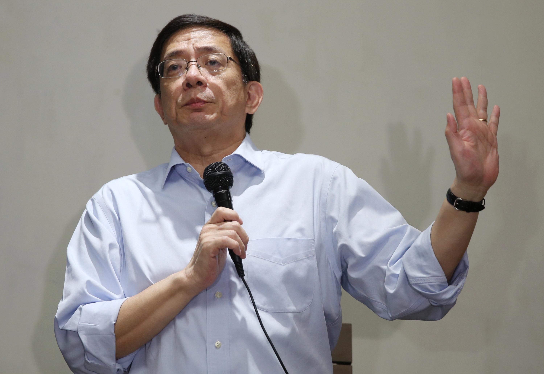 當選台灣大學校長的中央研究院士管中閔,7日在台北 與媒體茶敘,分享他對台大未來的規劃。 中央社記者鄭傑文攝 107年1月7日
