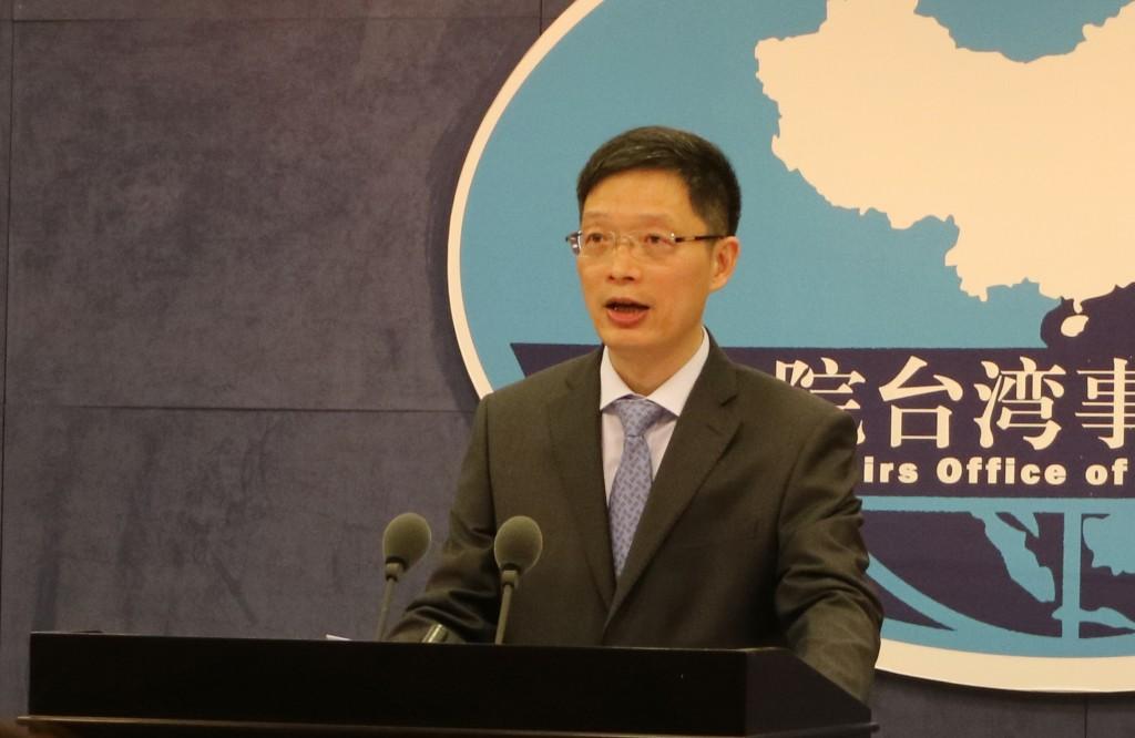 中共中央25日公布修憲建議,其中包括取消中國大陸國 家主席連任限制。關於此事對兩岸關係的影響,中國國 台辦發言人安峰山(圖)28日上午