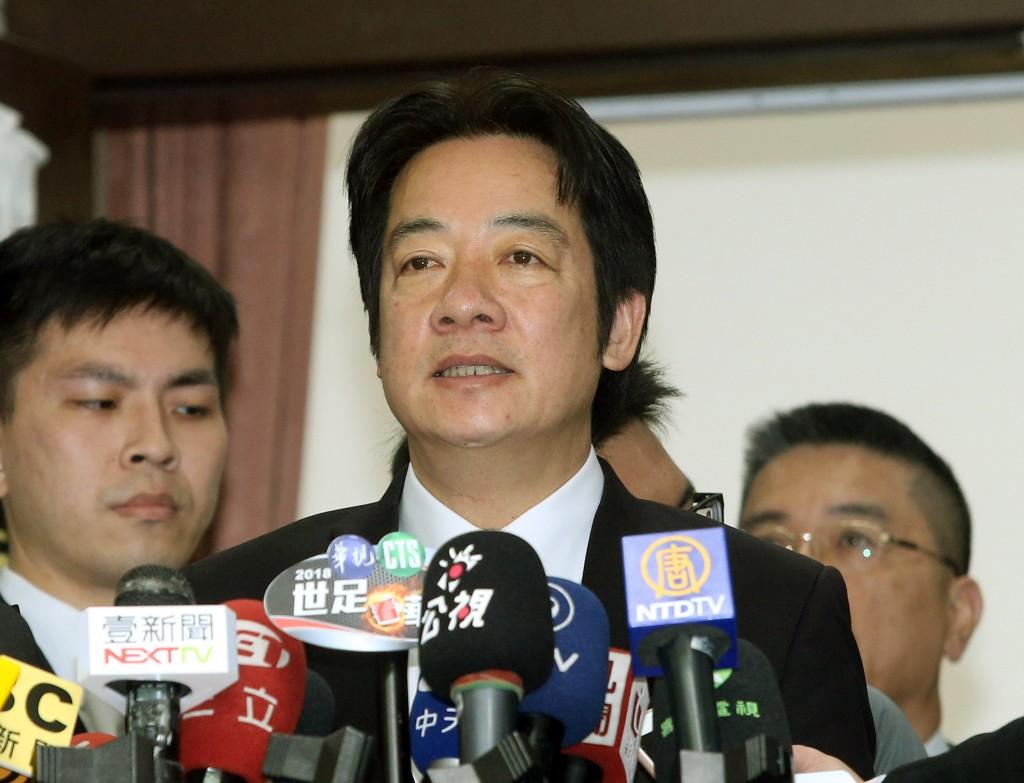 Taiwan's Premier William Lai