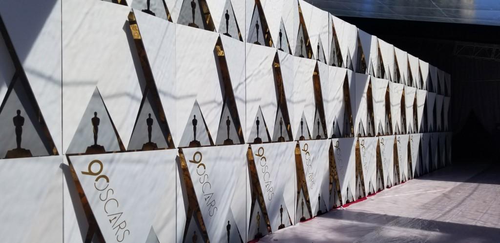 邁入第90屆的奧斯卡頒獎典禮,是在1961年首度鋪設紅 毯。 中央社記者曹宇帆洛杉磯攝  107年3月4日