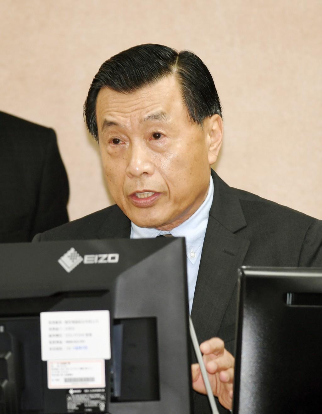 國安局長彭勝竹(圖)19日在立法院外交及國防委員會備詢表示,在中共修憲後,兩岸關係會因此增添變數。中央社記者施宗暉攝  107年3月19日