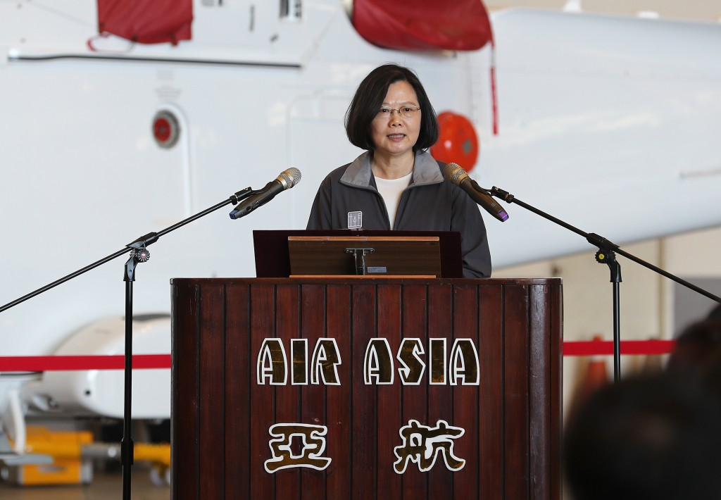 President Tsai Ing-wen visits three defense-related companies in southern Taiwan on April 27