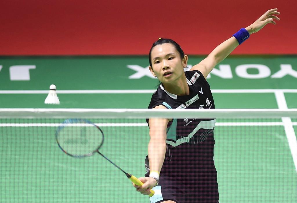 世界球后戴資穎6日在印尼羽球公開賽擊敗蘇格蘭女將 吉爾摩,挺進4強。 中央社記者周永捷雅加達攝 107年7月6日