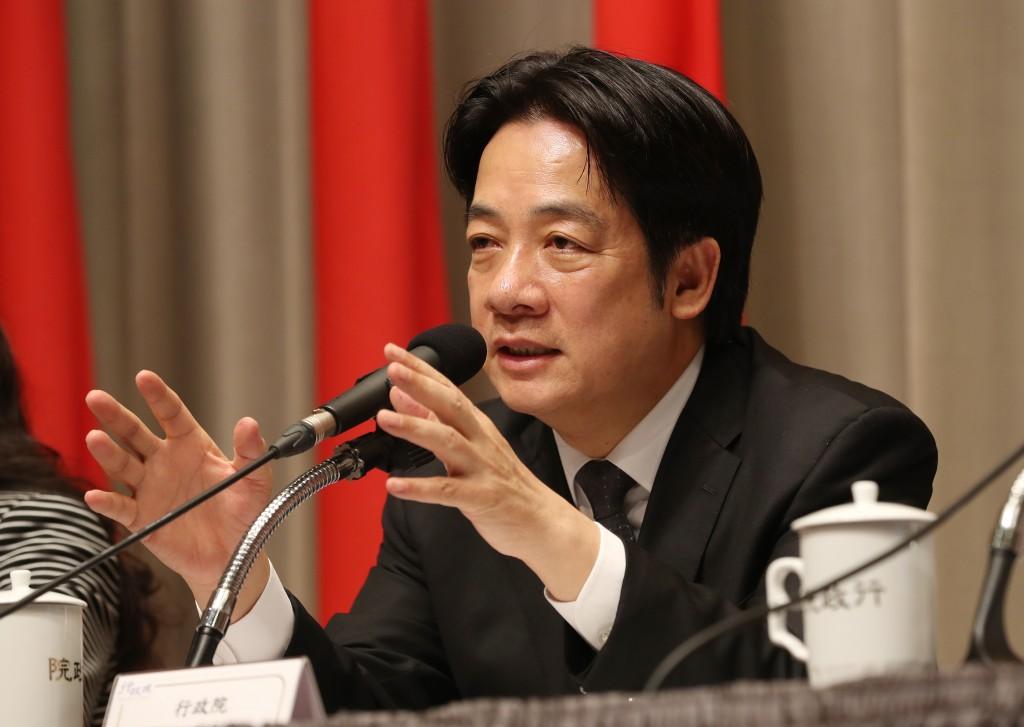 Taiwan Premier Wiliam Lai (賴清德)