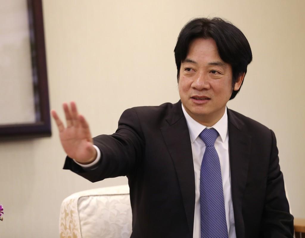Premier William Lai discussing green energy.
