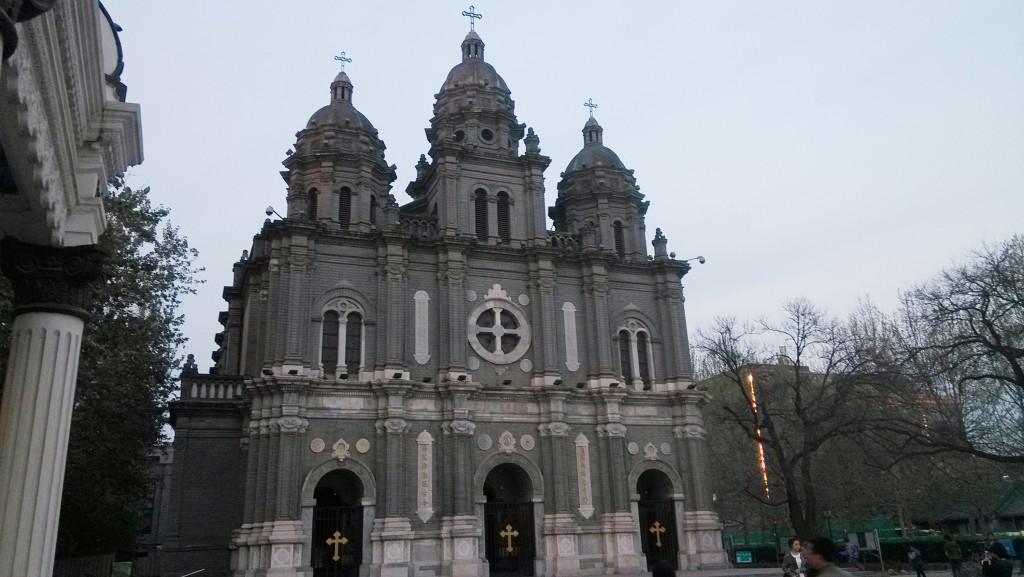 圖為中國北京最大的天主教堂聖若瑟堂