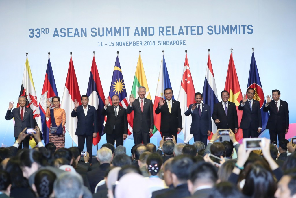 Leaders at the November 2018 ASEAN summit