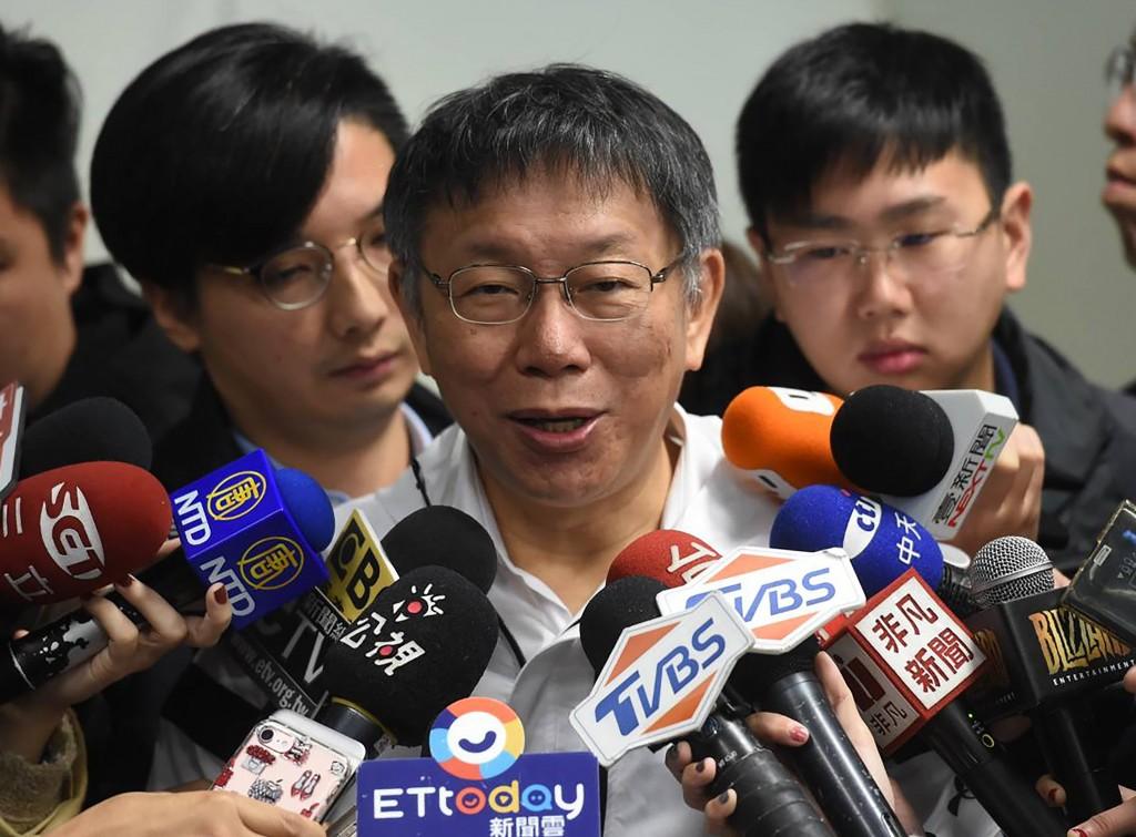 臺北市長柯文哲29日受訪時證實,曾與美國智庫學者葛來儀會面(照片來源:中央社提供)