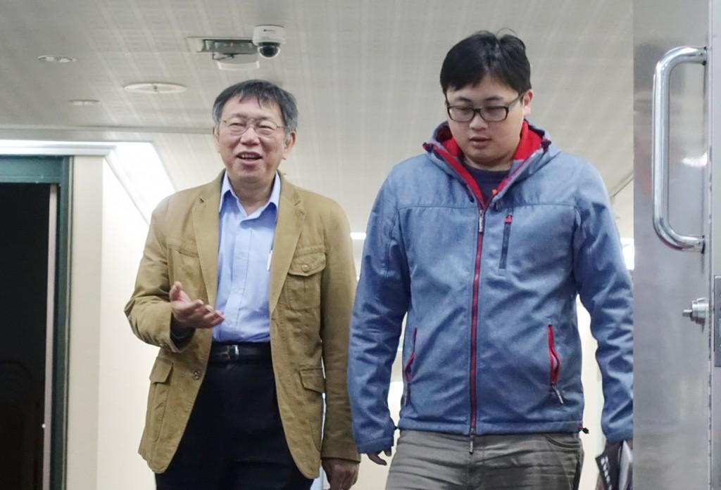 臺北市長柯文哲(左)(照片來源:資料照片/中央社提供)