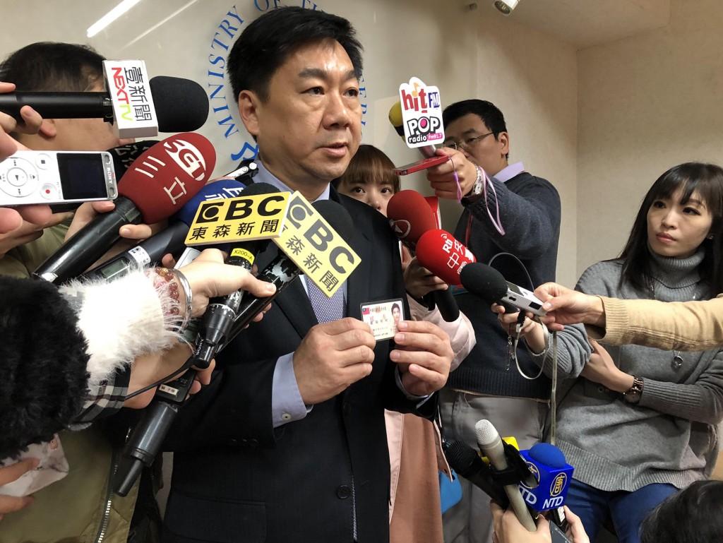 內政部次長陳宗彥日前接受訪問(照片來源:資料照片/中央社提供)
