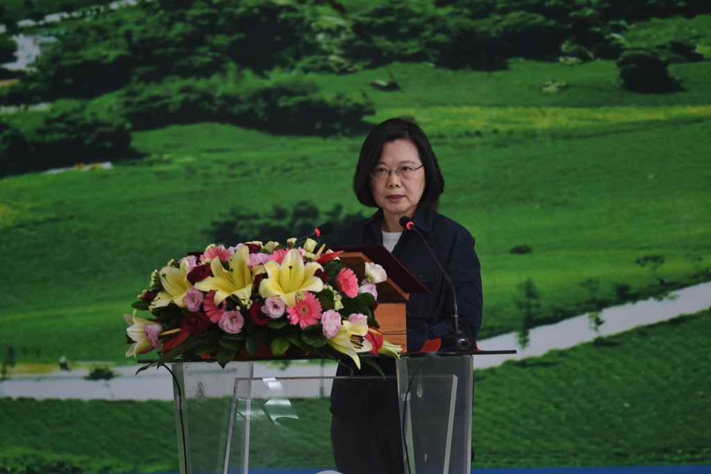 President Tsai during an address in Taichung