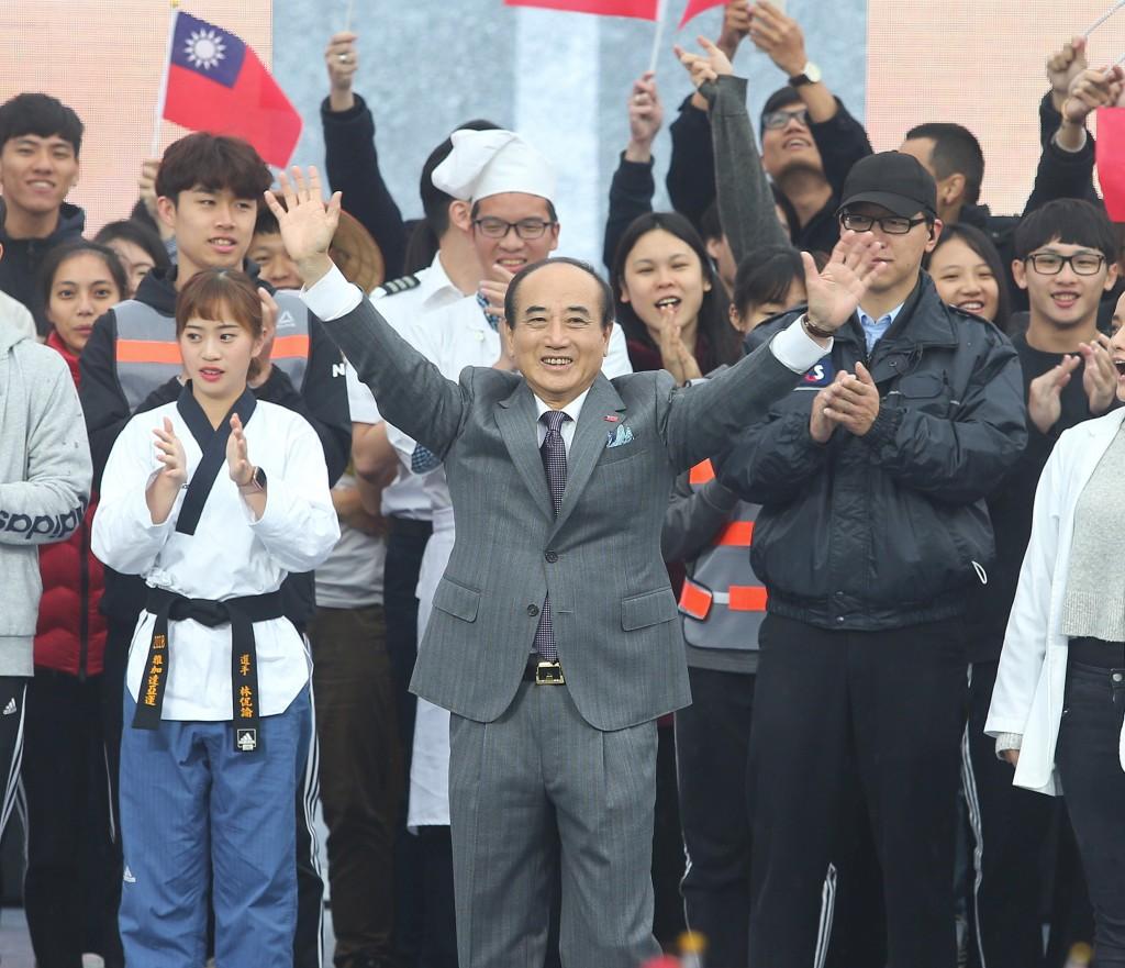 國民黨立委王金平7日宣布競選2020年總 統大選(照片來源:中央社提供)