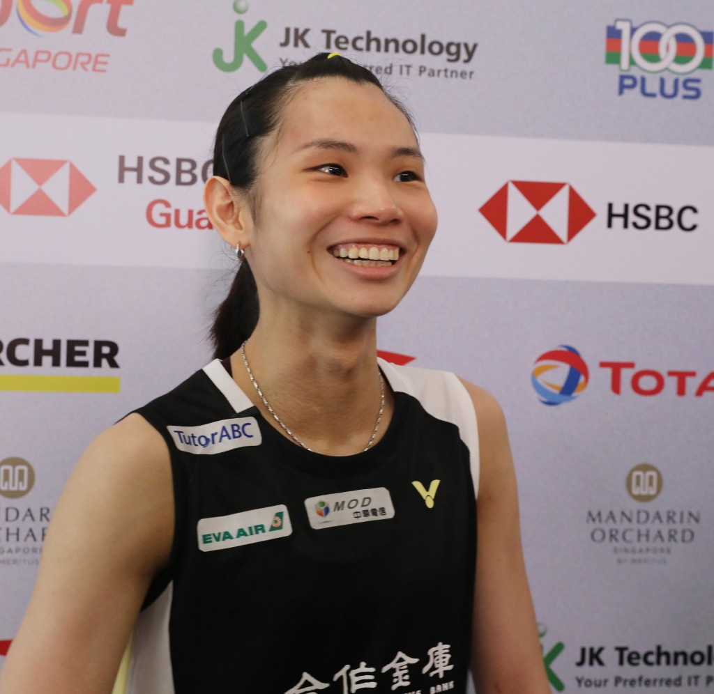 Tai Tzu-ying moves one step closer to the Singapore Open title.