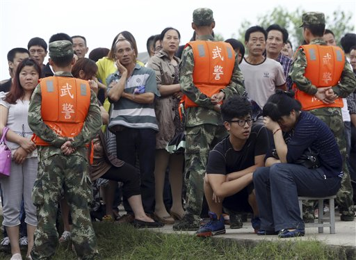 Death toll jumps to 65 in China river cruise capsizing
