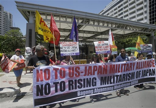 Philippines holds drills with US, Japan near disputed sea