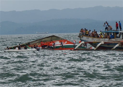 Capsized Philippine ferry death toll rises to 38; 15 missing