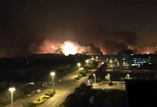At least 17 dead as huge warehouse blasts hit Chinese port