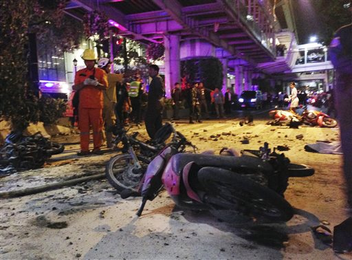 Rush-hour Bangkok bombing at busy shrine kills 18, hurts 117