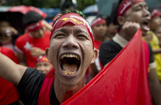 Myanmar ruling party headed for rout at Suu Kyi's hands
