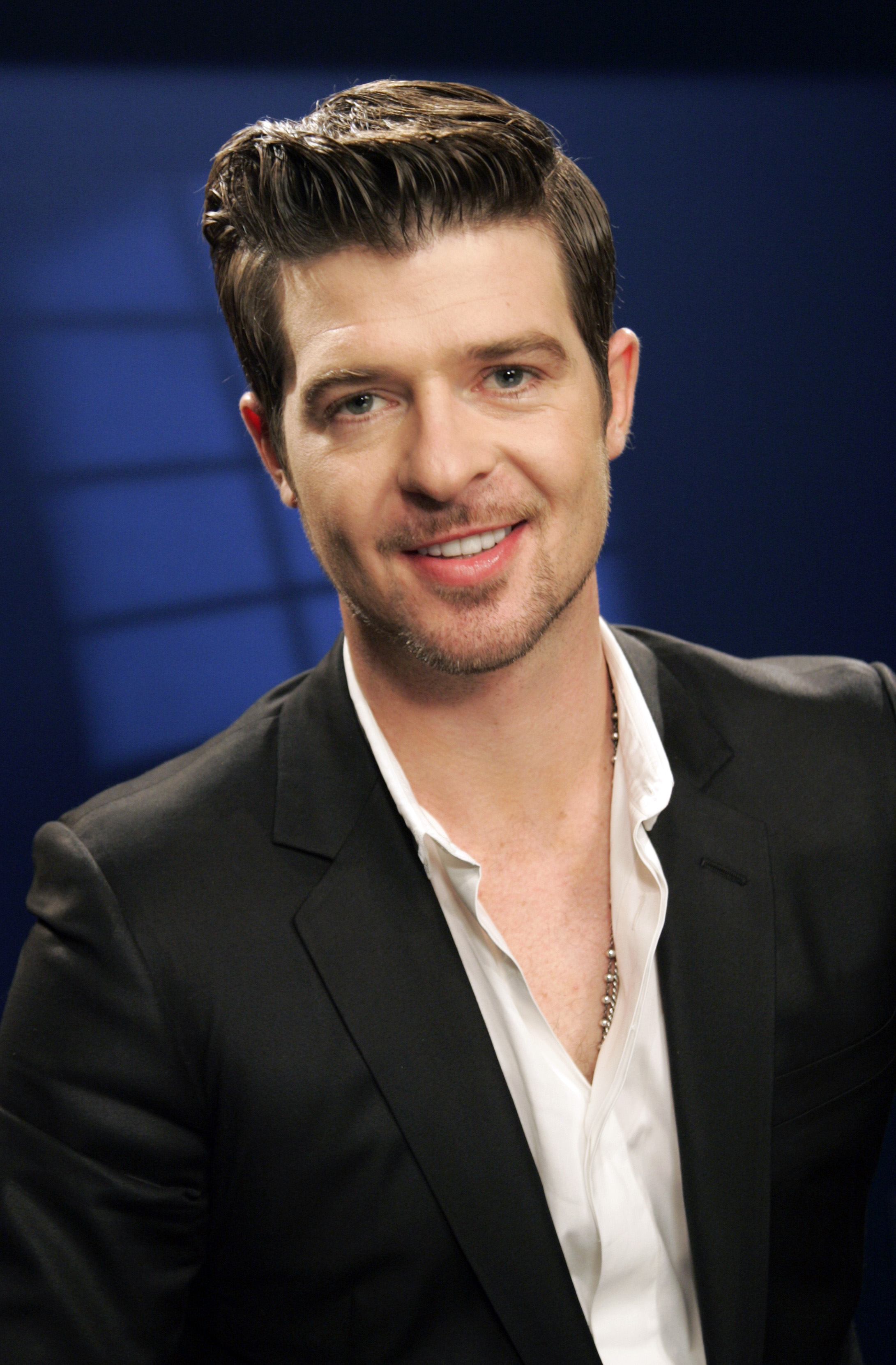 Recording artist Robin Thicke poses for a portrait in New York, New York on Dec. 15.