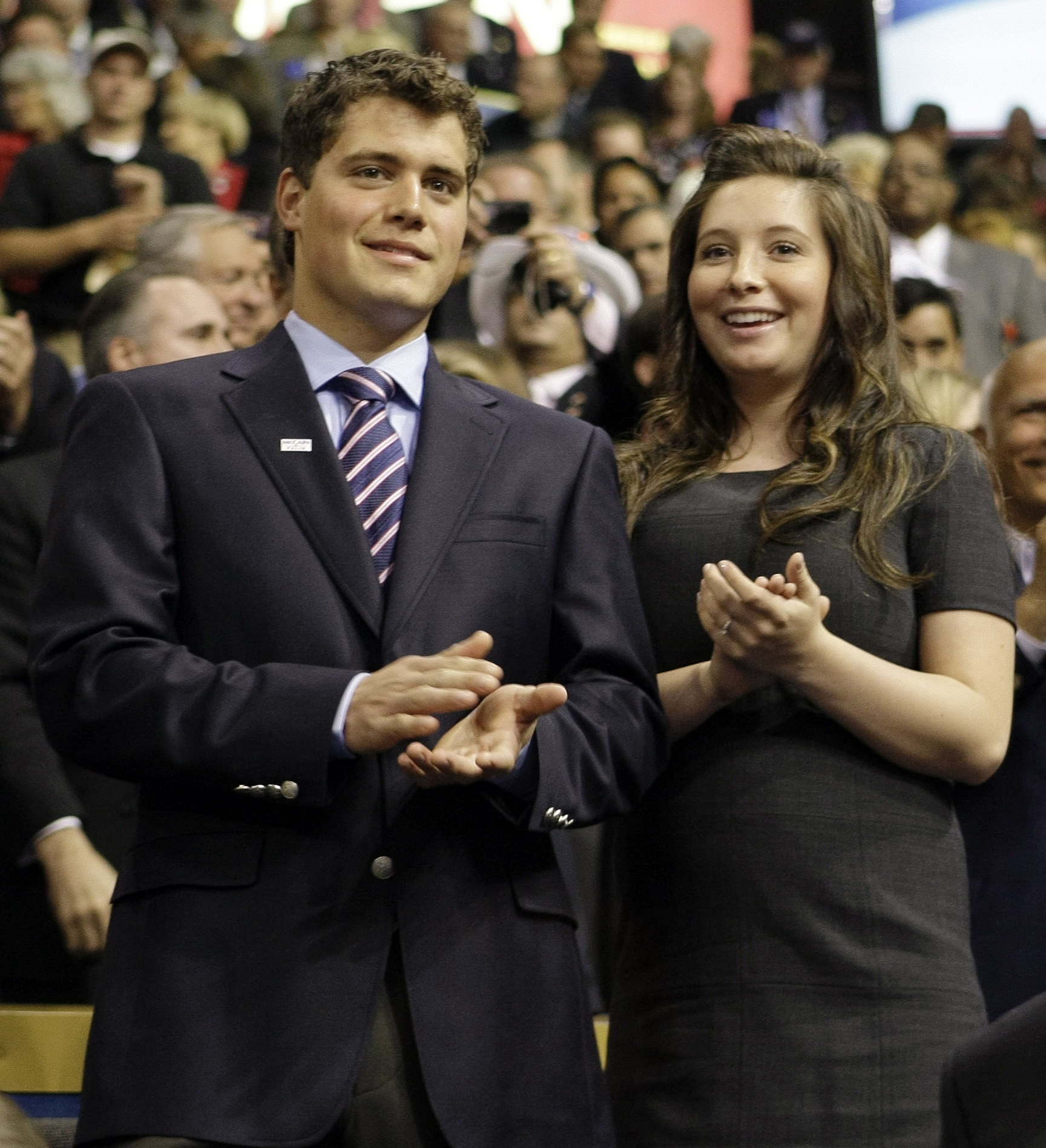 Bristol Palin and Levi Johnston are pictured in St. Paul, Minnisota in this September 2008 file photo.