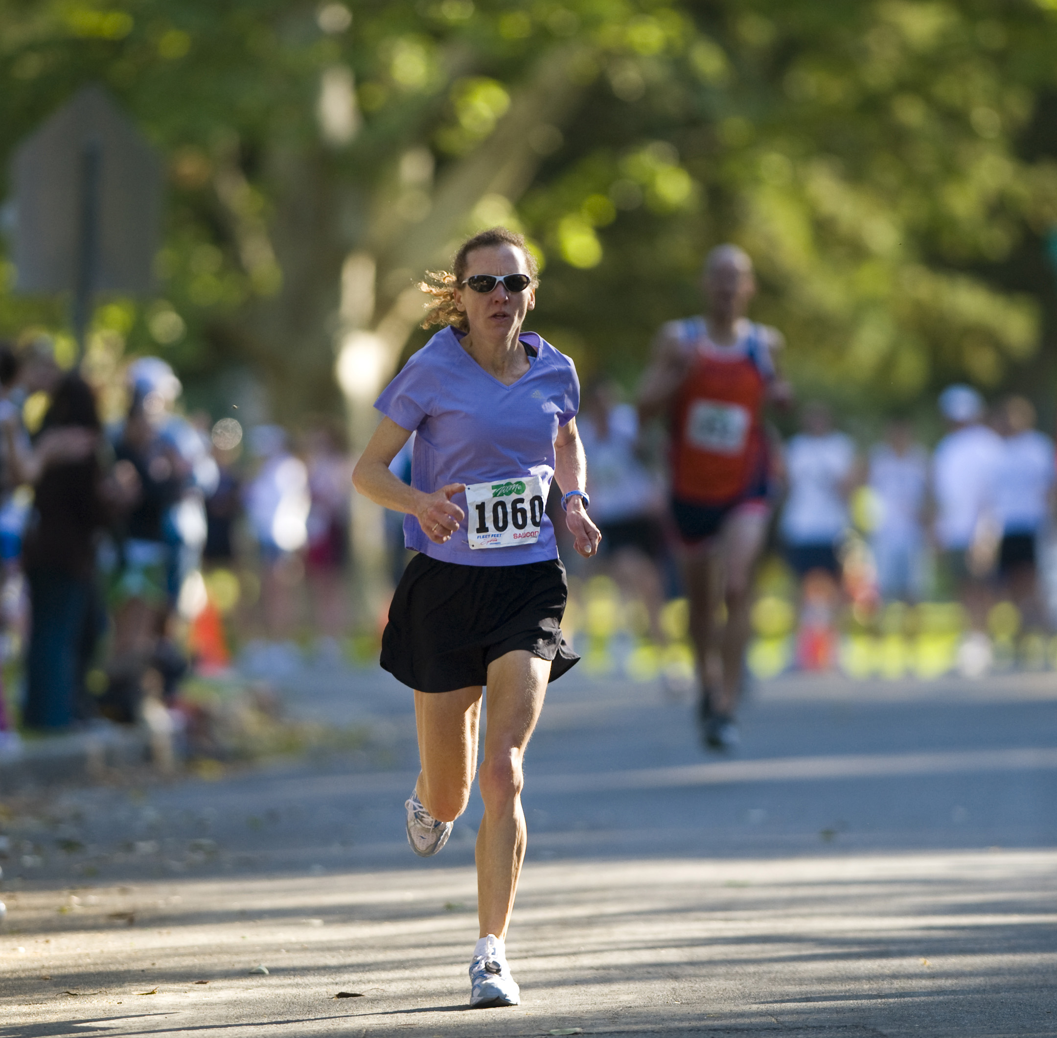 Mary Coordt, of Elk Grove, finishes second among woman in the Zoo Zoom 5K Race at William Land Park in Sacramento, California in this April, 2008 file...