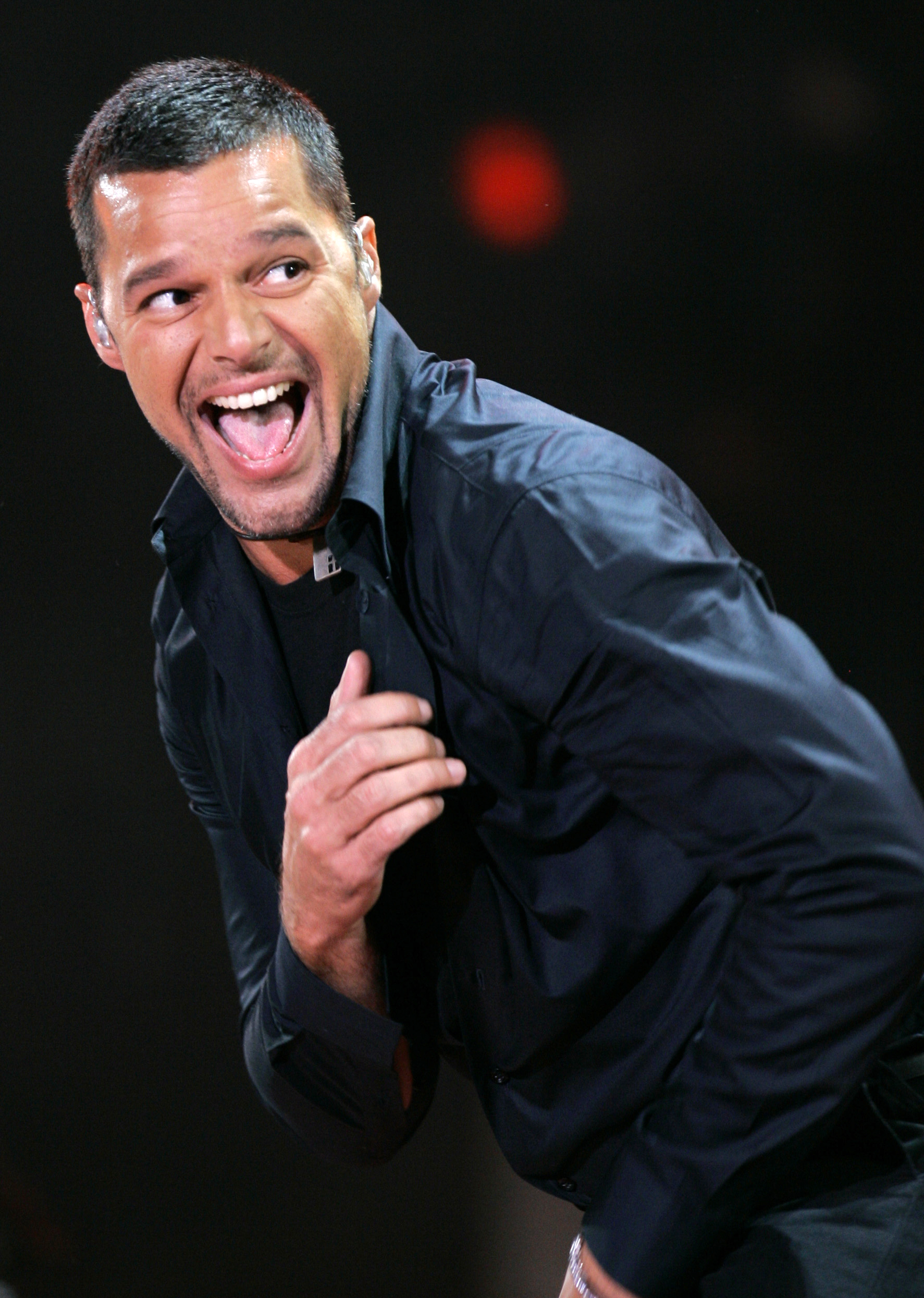 In this May 2008 file photo, Ricky Martin, of Puerto Rico, dances during an ALAS, Latin America in Solidarity Action, concert in Mexico City, Mexico.