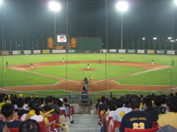 Tens of thousands Taiwan baseball fans watched two local pro baseball teams Brother Elephants and Uni-President Lions play a regular season game at Ta