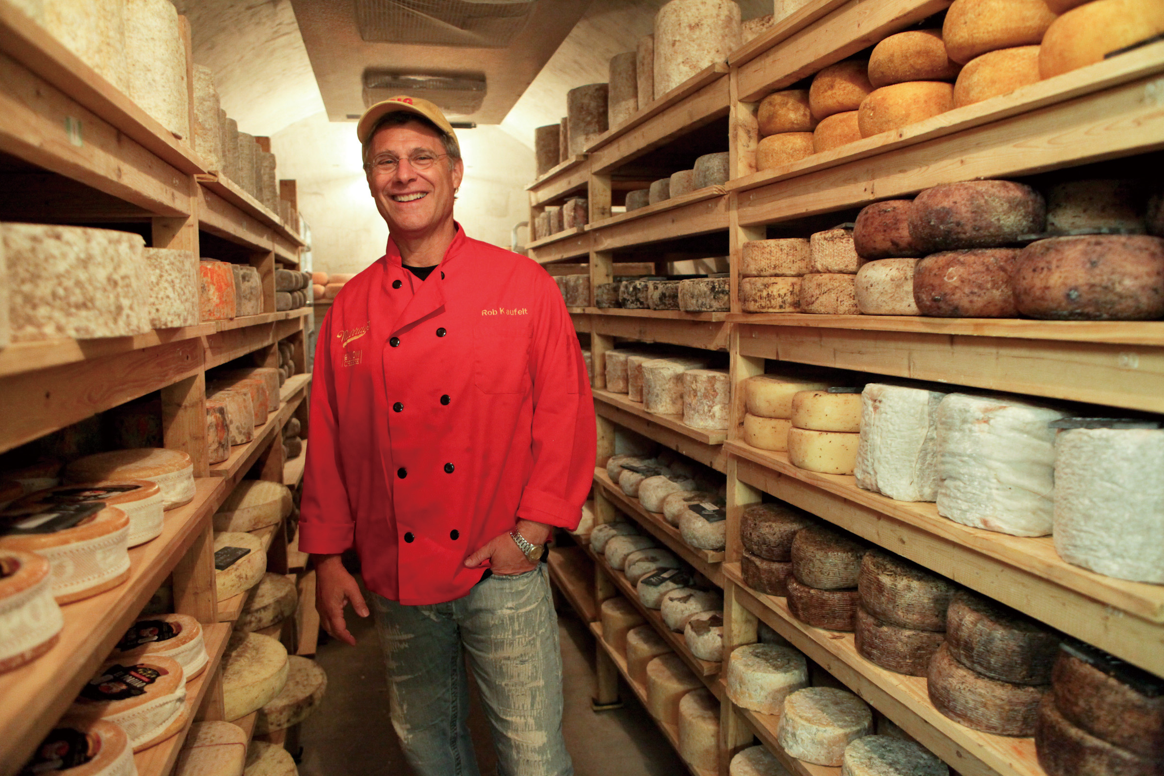 Rob Kaufelt, owner of Murray's Cheese Shop, in the cheese caves at the store in New York, Sept. 12, 2011.   (The New York Times)
