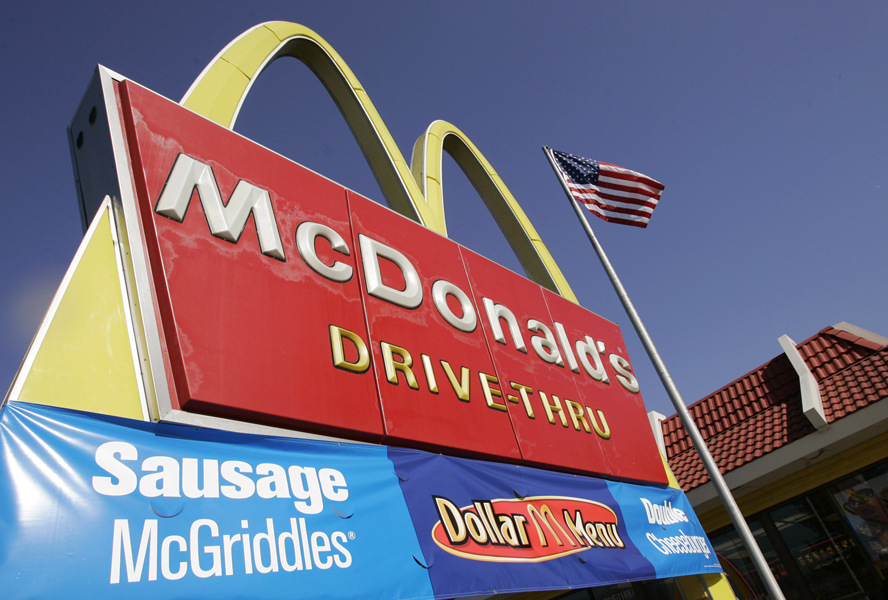 In this Jan. 24, 2007 file photo, a McDonald's restaurant is seen in San Jose, Calif. (Associated Press)
