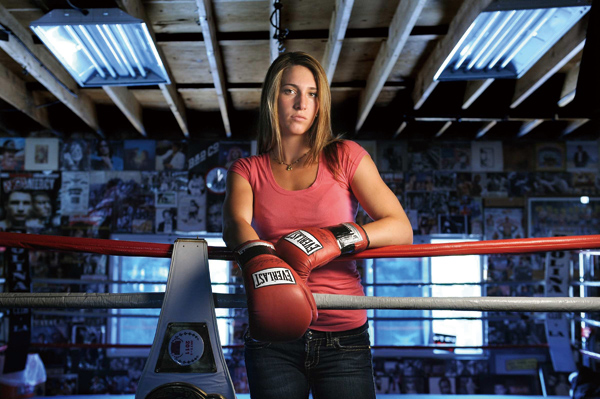 Olympic boxing hopeful Makaela Mayer at a gym in Canoga Park, California, in July 2011. (Mcclatchy Newspapers)