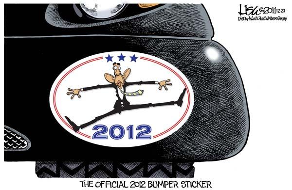 The official 2012 bumper sticker.(Washington Post)