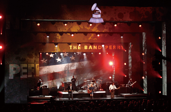 The Band Perry performs at the Grammy Nominations Concert on Wednesday, Nov. 30, 2011 in Los Angeles. (Associated Press)