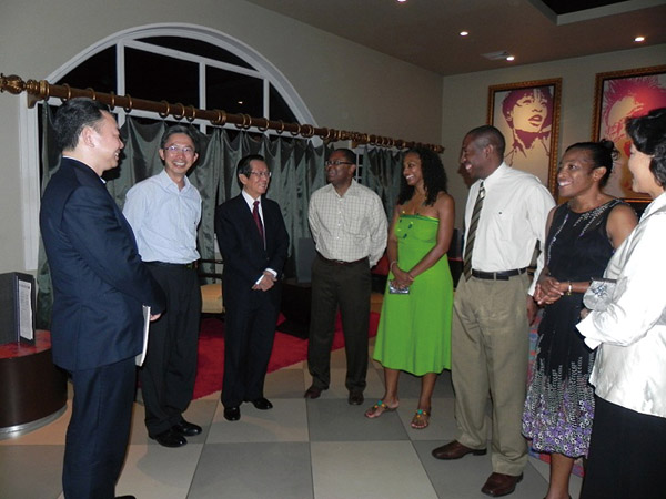 Taiwan Foreign Minister Timothy Yang, third left, met with St. Lucia Prime Minister Kenny Anthony and Foreign Minister Alva Baptiste to discuss future...